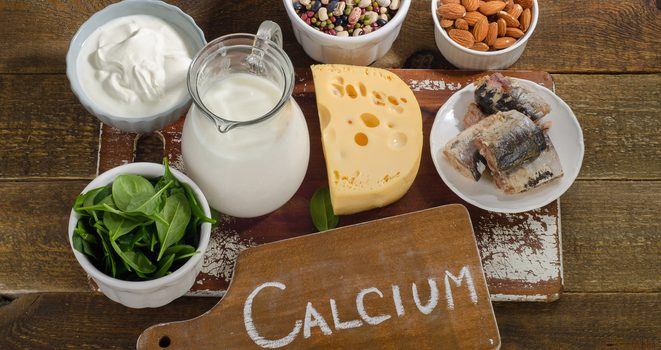 Products with a high content of calcium