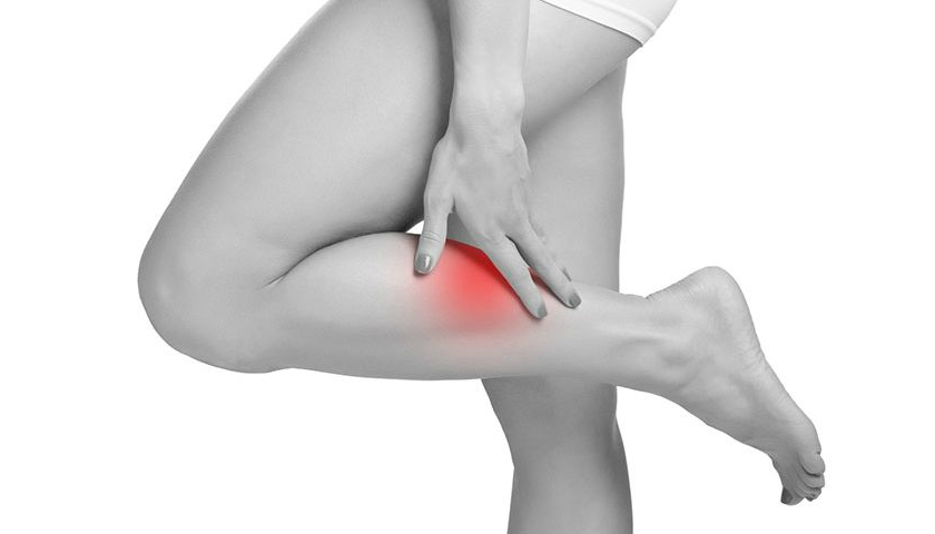 What should I do if my calf muscle contracted