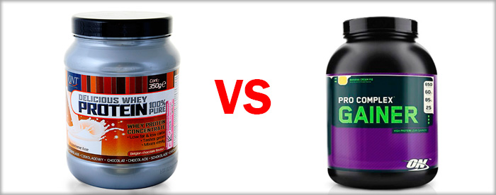 What to choose for a set of muscle mass protein or gainer