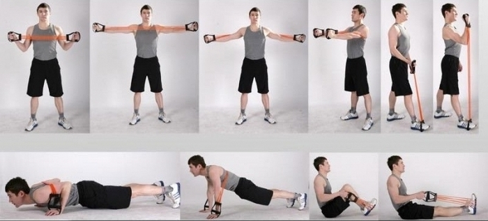 exercises with a spring expander for men